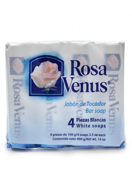 Rosa Venus blanco / Caja con 15 paquetes de 4 piezas de 100g c/u
