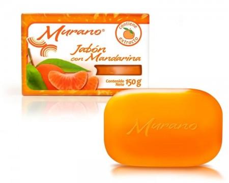 Jabón de tocador Murano con mandarina / Caja con 40 piezas de 150g