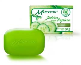 Jabón de tocador Murano con pepino / Paquete con 10 piezas de 150g