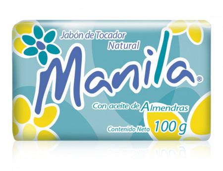 Manila con aceite de almendras / Caja con 20 paquetes con 3 piezas de 100g (60 piezas)