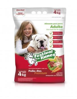 Festival de Kanes alimento para perro Adulto / Paquete de 4 bolsas de 4 kg imágenes