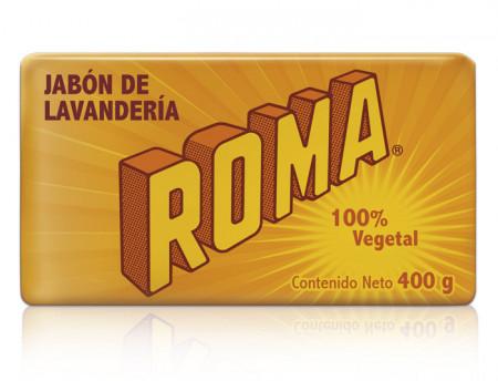 Roma jabón de Lavandería 100% Vegetal / Caja con 25 piezas de 400g