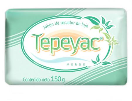 Tepeyac verde jabón de tocador de lujo / Caja con 40 piezas de 150g