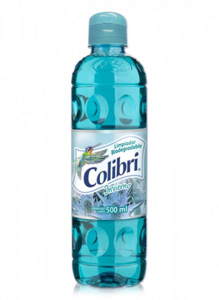 Colibrí limpiador líquido / Caja con 24 botellas de 500 ml / Aroma Invierno.