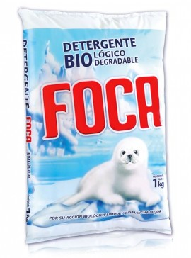 Foca detergente en polvo / Caja con 10 bolsas de 1 kg