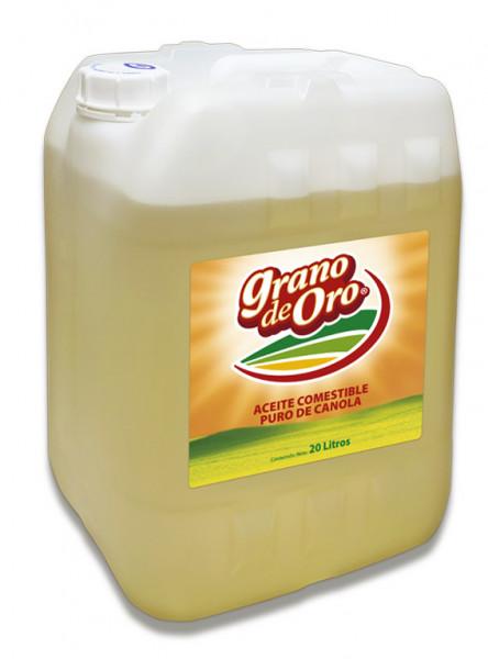 Grano de Oro aceite vegetal comestible puro de Canola / Bidón de 20 litros