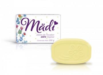 Mädi jabón de Tocador 100% Vegetal / Paquete con 10 piezas de 150g