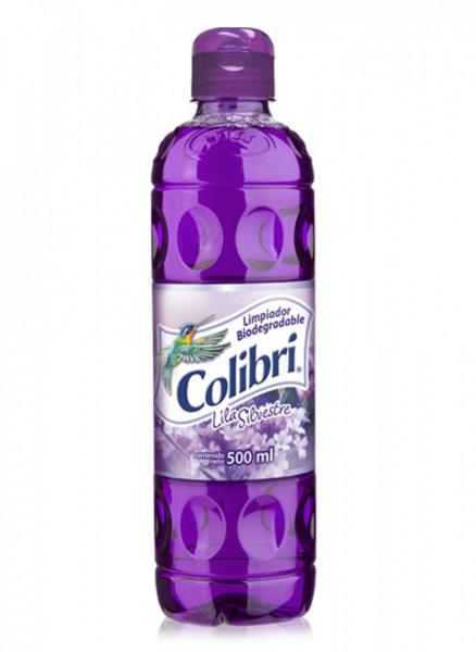 Colibrí limpiador líquido / Caja con 24 botellas de 500 ml / Aroma Lila Silvestre.