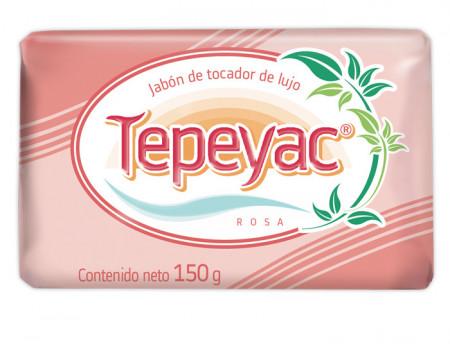 Tepeyac rosa jabón de tocador de lujo / Caja con 40 piezas de 150g