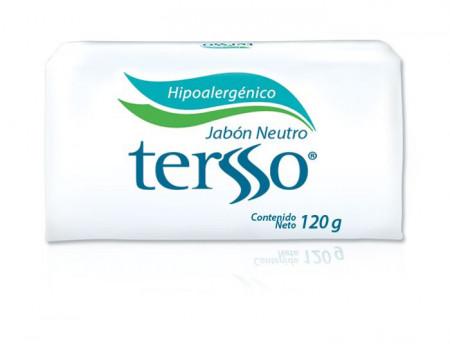 Tersso jabón neutro / Caja con 50 piezas de 120g