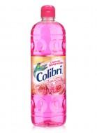 Colibrí limpiador líquido / Caja con 12 botellas de 1 Litro / Aroma Jardín de Rosas.