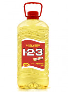 1-2-3 aceite vegetal comestible / Charola con 4 botellas de 1 Galón
