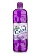 Colibrí limpiador líquido / Caja con 12 botellas de 1 Litro / Aroma Lila Silvestre.