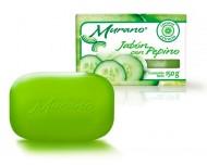 Murano jabón con pepino / Paquete con 10 piezas de 150g