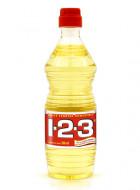 1-2-3 aceite vegetal comestible / Caja con 24 botellas de 500 ml