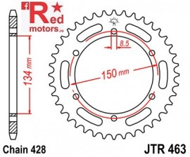 Foaie/pinion spate JTR463.46 428 cu 46 de dinti pentru Kawasaki KMX 125