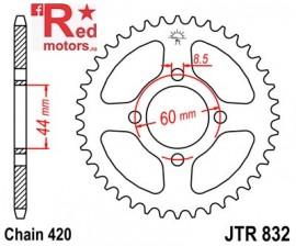 Foaie/pinion spate JTR832.48 420 cu 48 de dinti pentru Yamaha DT 50, DT 80, FS1 80