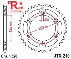 Foaie/pinion spate JTR210.50 520 cu 50 de dinti pentru HM-Moto