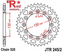 Foaie/pinion spate JTR245/2.53 520 cu 53 de dinti Honda CB 250, NX 250