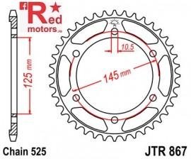 Foaie/pinion spate JTR867.43 525 cu 43 de dinti pentru Yamaha TDM 850