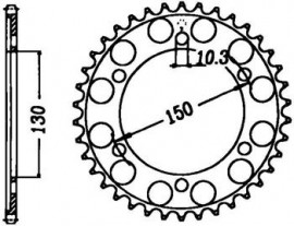 FOAIE SPATE JT 48 DINTI (JTR300) - HONDA XL650V 2000- TRANSALP