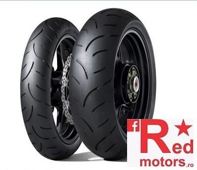 Set anvelope/cauciucuri moto Dunlop Qualifier II 120/70 R17 58W + 200/50 R17 75W