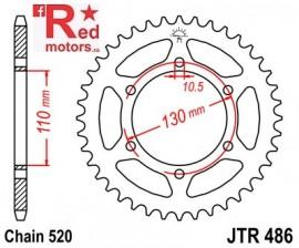 Foaie/pinion spate JTR486.42 520 cu 42 de dinti pentru Kawasaki EL 250, ER 500