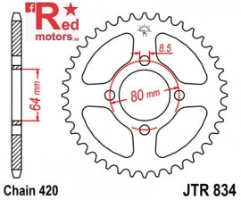 Foaie/pinion spate JTR834.41 420 cu 41 de dinti pentru Yamaha PW 80, TT-R 50