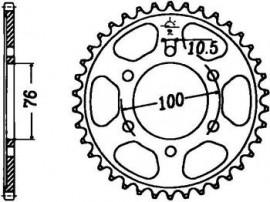 FOAIE SPATE JT 48 DINTI (JTR816) - SUZUKI GSX-R1100 KETTE530
