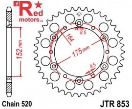 Foaie/pinion spate JTR853.42 520 cu 42 de dinti pentru Barossa/SMC, Derbi DXR, Yamaha DT 400