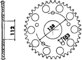 FOAIE JT 48 DINTI (JTR1873) - Yamaha YZF-R6