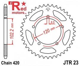 Foaie/pinion spate JTR23.47 420 cu 47 de dinti pentru Aprilia RS 50