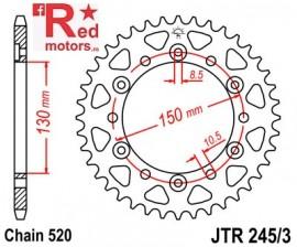 Foaie/pinion spate JTR245/3.46 520 cu 46 de dinti Honda NX 650