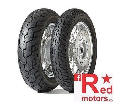 Set anvelope/cauciucuri moto Dunlop D404 100/90 R19 57H + 140/90 R15 70S TT