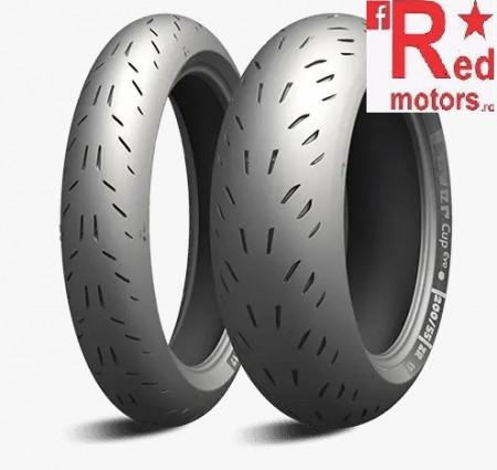Set anvelope/cauciucuri moto Michelin Power CUP Evo 110/70ZR17 54W + 140/70ZR17 66W