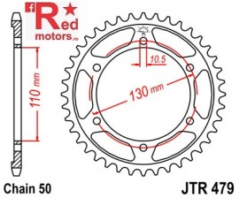 Foaie/pinion spate JTR479.44 530 cu 44 de dinti pentru Kawasaki GPX 600, GSX-R 1000