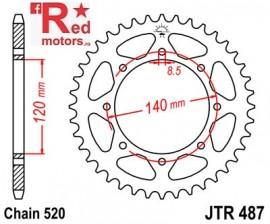 Foaie/pinion spate JTR487.42 520 cu 42 de dinti pentru Kawasaki BJ 250, KL 650, KLE 500