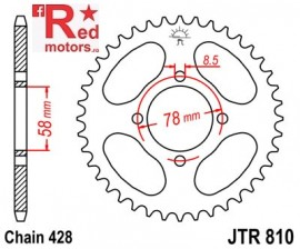 Foaie/pinion spate JTR810.41 428 cu 41 de dinti pentru Generic Code 125, Worx 125, Hyosung GV 125 Aquila, RT 125 D Karion Citytrail
