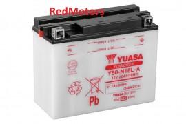 Acumulator/baterie moto Yuasa- Y50-N18L-A pentru Harley Davidson, Honda, Kawasaki, Moto Guzzi