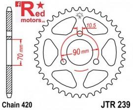 Foaie/pinion spate JTR239.40 420 cu 40 de dinti pentru Honda