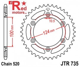 Foaie/pinion spate JTR735.38 520 cu 38 de dinti pentru Ducati