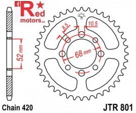 Foaie/pinion spate JTR801.45 420 cu 45 de dinti pentru Kawasaki AE 50, AE 80, KLX 110, Suzuki LT 50