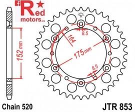 Foaie/pinion spate JTR853.49 520 cu 49 de dinti pentru Barossa/SMC, Derbi DXR, Yamaha DT 400