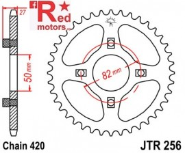 Foaie/pinion spate JTR256.42 420 cu 42 de dinti Honda CB 50, ST 50, XR 80