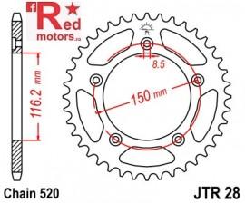 Foaie/pinion spate JTR28.42 520 cu 42 de dinti pentru Aprilia RS 250