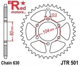 Foaie/pinion spate JTR501.33 630 cu 33 de dinti pentru Kawasaki GPZ 1100, Z 750, Z 1000