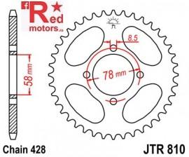 Foaie/pinion spate JTR810.43 428 cu 43 de dinti pentru Generic Code 125, Worx 125, Hyosung GV 125 Aquila, RT 125 D Karion Citytrail