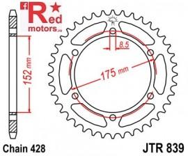 Foaie/pinion spate JTR839.57 428 cu 57 de dinti pentru Yamaha DT 125, WR 125