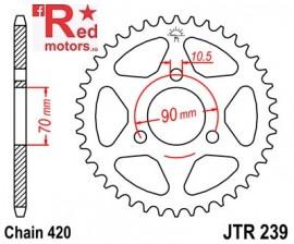Foaie/pinion spate JTR239.45 420 cu 45 de dinti pentru Honda