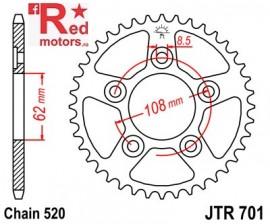 Foaie/pinion spate JTR701.40 520 cu 40 de dinti pentru Aprilia RS 125, Cagiva Mito 125
